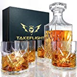 Whiskey Decanter Set & Whiskey Glasses - Whiskey Glass Set & Decanter Set | Liquor Decanters for Alcohol with Scotch Glasses/