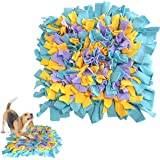 Ozoosh Pets Snuffle Mat Training Feeding Mat Nosework for Dogs Activity Fun Play Mat for Relieve Stress Restlessness (Blue/Ye