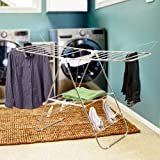 Everyday Home 82-CRAF11 Heavy Duty Laundry Drying Rack- Chrome Steel Clothing Shelf for Indoor and Outdoor Use Best Used for