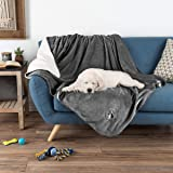 PETMAKER Waterproof Pet Blanket – 60inX50in Soft Plush Throw Protects Couch, Chair, Car, Bed from Spills, Stains Or Fur-Machi