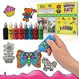 KOKO AROMA Window Paint Art Kit for Kids Children's Make Your Own Fun Suncatchers Set – [24] Sun Catchers, [24] Suction Cups