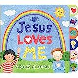 "C.R. Gibson Tab-Side ""Jesus Loves Me"" Songs Board Book for Kids by Stephanie Peterson Jones"