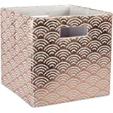 """DII CAMZ37944 Hard Sided Collapsible Fabric Storage Container for Nursery, Offices, & Home Organization, (13x13x13"""") - Waves"""