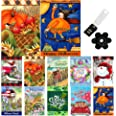 Country Charm Seasonal Garden Flag Set of 10-12x18 Inch Double Sided Yard Flag with Free Anti-Wind Clip and Stopper for Outdo