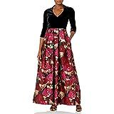 Eliza J Women's Velvet Bodice Jacquard Ballgown Skirt