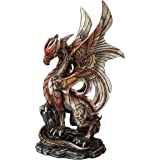 25cm Steampunk Inspired Mechanical Dragon Statue Figurine
