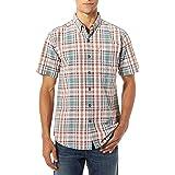 ROYAL ROBBINS Men's Mid-Coat Seersucker Plaid Shirt