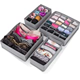 Abin Living Underwear Organizer - Drawer Dividers for Underwear, Bra and Clothes, Customizable Storage Dividers for Dresser a
