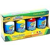 Crayola 54 2504 Paint-A-Pack (4 x 250ml Paints + Big Brush) Classic Colors