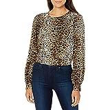 Lark & Ro Women's Long Blouson Sleeve Woven Blouse