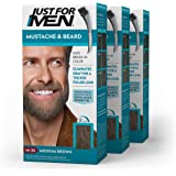 Just For Men Mustache and Beard Brush-In Color Gel, Medium Brown (Pack of 3)
