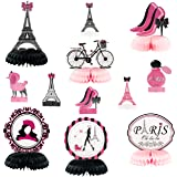 MALLMALL6 12Pcs Paris Honeycombs Centerpieces Party in Paris Party Supplies Birthday Baby Shower Decorations Girls Dream Pari
