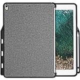 """ProCase iPad Pro 12.9 ケース 保護ケース バックカバー Appleペンシルホルダー付き 2017 Apple iPad Pro 12.9インチと2015 iPad Pro 12.9""""専用 Appleスマートキーボードとカバーに対応 -グレー"""