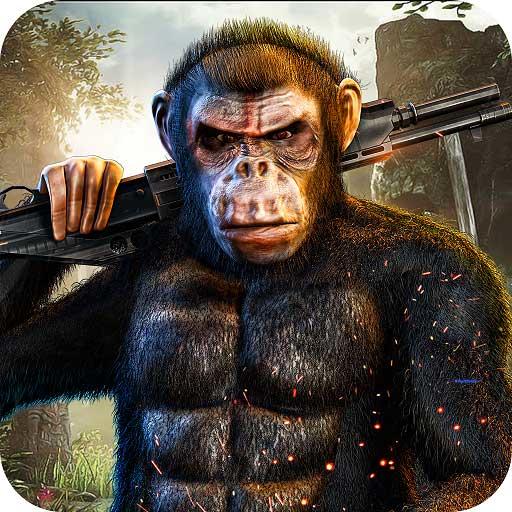 ジャングルの野生のゴリラ市の暴動の3Dゲームのルール:ラスベガス市の猿の復讐ギャングスター犯罪冒険ミッション無料の子供たち2018