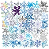 Snowflake Stickers Winter Christmas Stickers Decal 50 Pack