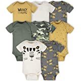 Gerber Baby Boys' 8-Pack Short Sleeve Onesies Bodysuits
