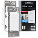 GE Enbrighten Add QuickFit and SimpleWire, in-Wall Paddle, Z-Wave Zigbee Wireless Smart Lighting Controls, NOT A STANDALONE S