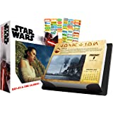 Star Wars 2021 Calendar, Box Edition Bundle - Deluxe 2021 Star Wars Day-at-a-Time Box Calendar with Over 100 Calendar Sticker