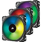 Corsair ML120RGB, 120 mm, Premium Magnetic Levitation RGB LED Fan - Black (Triple Pack)
