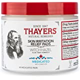 Thayers Medicated Witch Hazel with Aloe Vera Astringent Pads (60 pads),