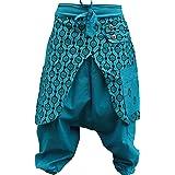 Shopoholic Fashion Unisex Eye Print Hippie Harem Loose Pants Bohoo Retro Gypsy Baggy Hippy Trouser