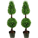 Admired by Nature Aritificial Boxwood Twin Pack Green
