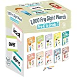 Little Champion Reader 1,000 Sight Fry Dolch Word-List Flashcards in 10-Pack Bundle Set, Pre-K to 3rd Grade, Teaches 1,000 Do