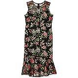 Calvin Klein Womens CD9L28QB Sleeveless Lace Sheath with Flounce Hem Dress Sleeveless Dress - Multi - 8