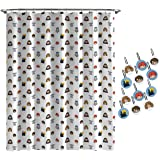 Jay Franco Harry Potter Hogwarts is My Home Shower Curtain & 12-Piece Hook Set & Easy Use - Kids Bath Features Harry, Ron, He