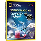 NATIONAL GEOGRAPHIC Magic Chemistry Set - Perform 10 Amazing Easy Tricks with Science, Create a Magic Show with White Gloves