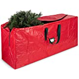 ZOBER Large Christmas Tree Storage Bag - Fits Up to 9 Ft Tall Holiday Artificial Disassembled Trees with Durable Reinforced H