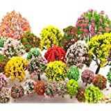 MOMOONNON 32 Pieces Model Trees 3.5cm - 10cm Mixed Model Tree Train Scenery Architecture Trees Fake Trees for DIY Crafts, Bui