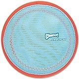 Chuckit! Paraflight Flyer Dog Frisbee for Long Distance Fetch Orange/Blue 2 Sizes