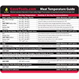 Meat Temperature Magnet - BEST INTERNAL TEMP GUIDE - Outdoor Chart of All Food For Kitchen Cooking - Use Digital Thermometer
