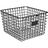 Spectrum Diversified Wire Pet, Toy, Office, Dorm Storage Basket Bin Organizer, Medium, Black