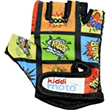 Kiddimoto - Cycling Gloves | Fingerless Gloves for Kids | Perfect for Bike, Scooter & Skateboard | Ideal for Boys and Girls |