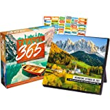 Daily Travel 2021 Calendar, Box Edition Bundle - Deluxe 2021 Daily World Destinations Day-at-a-Time Box Calendar with Over 10