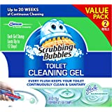 Scrubbing Bubbles Toilet Bowl Cleaning Gel Starter Kit, Includes Dispenser and Gel, Glade Rainshower Scent,12 Total Stamps