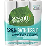 Seventh Generation Toilet Paper, Bath Tissue, 100% Recycled Paper, 24 Count, Pack of 2