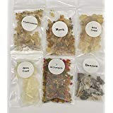 The Better Scents Resin Incense Variety Sampler Set- 1/4 oz Bags of Frankincense- Myrrh- Opoponax (Sweet Myrrh)- Gold Copal-