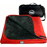 Premium Large Waterproof, Windproof, Quilted Fleece Picnic Rug & Outdoor Blanket for Camping, Beach, Travel, Stadium, Dog, Ma