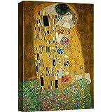 "wall26 - The Kiss by Gustav Klimt Painting - Canvas Art Wall Decor - 12""x18"""