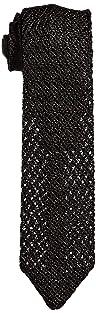 Solid Silk Knit Tie 118-23-2420: Black