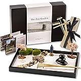 Island Falls Home Zen Garden Kit -11x8 inch Beautiful Premium Japanese Mini Rock Garden Meditation Gift Set for Home & Office
