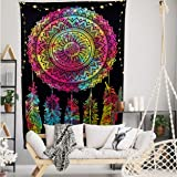 FabQual Tapestries Purple Tapestry Hippie Tapestry for Bedroom Trippy Indie Tapestry Cool Tapestry Trippy Colorful Tapestry S