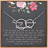 MADAOGO Stepdaughter Necklace, Adoption Necklace,Infinity Necklace,Daughter in Law Gift, Bonus Daughter Gift, Step Daughter G