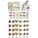 Gin Tonic infusions Pack, 24 infusions Flavoring Spices in a Minipack from Té Tonic, 6 Flavors. Flavoring infusions to Spice