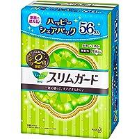 【シェアパック】ロリエスリムガード 多い昼~ふつうの日用羽つき 28コ入×2セット(56コ)