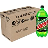 Mountain Dew Energised Soft Drink, 8 x 1600 g, Formulated Caffeinated Beverages