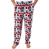 Marvel Men's Deadpool Heads Will Roll! Chibi Character Print Adult Sleep Lounge Pajama Pants